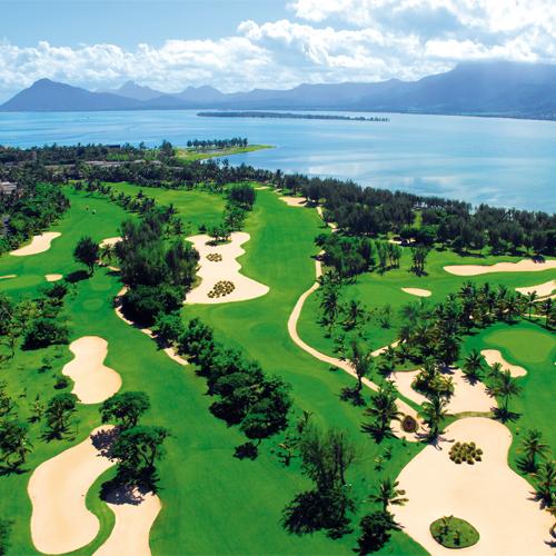 Golf Anlage im Beachcomber Resort auf Mauritius